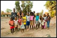 Kids just line up!! Kasangati