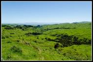 West toward the southern Tararua's from near the Haunui windfarm...