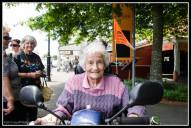 Greytown Xmas Parade - Betty O'Neale with mirrors.