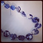 2013 04-21 MFA New Blue and White Repurposed Plate Necklace Detail
