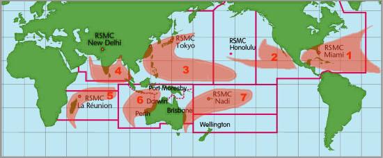 Commons Wikimedia: Zonas en las que se producen huracanes