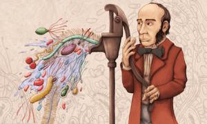 Ilustração do Dr. John Snow.