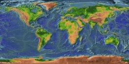 Mapa Físico Mundial