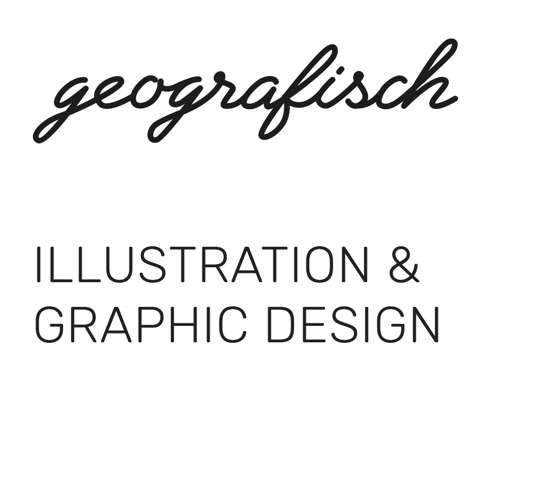 logo geografisch, illustration & graphic design