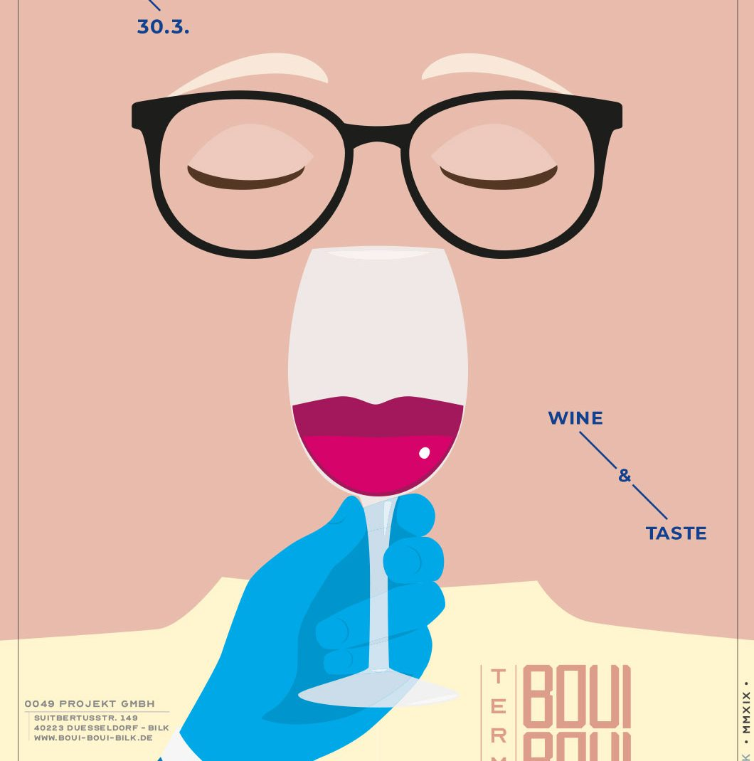Wine and Taste, hand, glas, Vectordesign, illustrated Schedule, Folder, Flyer, 0049events, Düsseldorf, Germany, BouiBouiBilk,