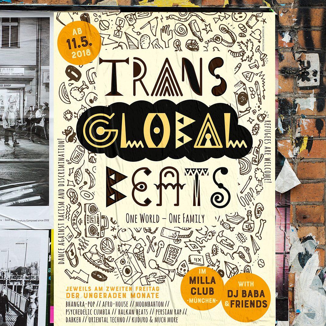 Poster, Transglobalbeats, München, milla, Munich,