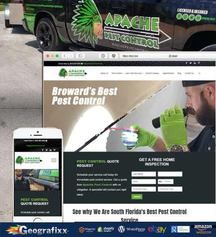 apache pest control web design
