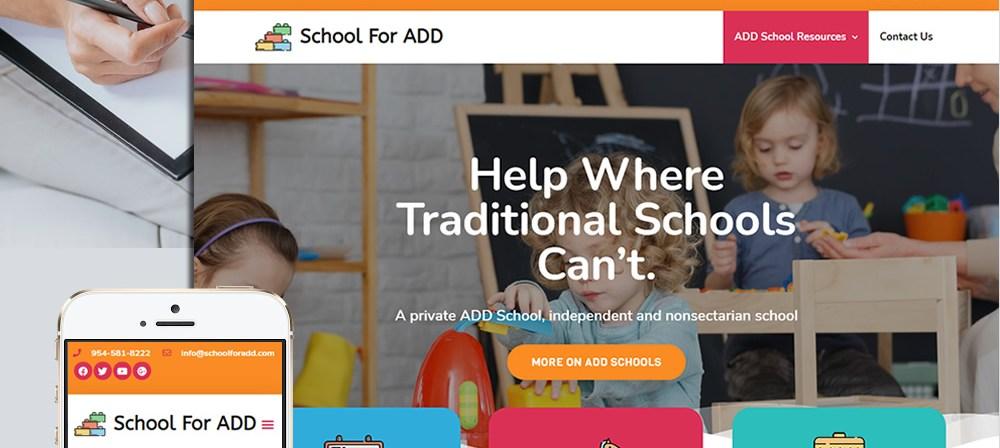 schoolforadd web design