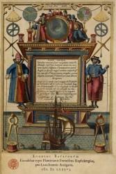 Atlas nautique Speculum nauticum super navigatione maris occidentalis L. J. Waghenaer, 1586. Gravure aquarellée BnF, Réserve des livres rares, G-46 (1) © Bibliothèque nationale de France