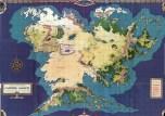 La carte complète de la terre du Milieu, imaginée par les concepteurs de JRTM, le jeu de rôle de la Terre du Milieu