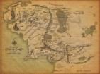 La carte redessinée par Christopher Tolkien à l'occasion de la sortie des Contes et Légendes Inachevés en 1980