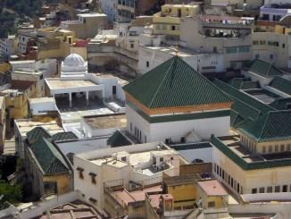 Une vue extérieure du mausolée de Moulay Idriss