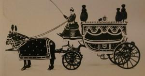 Un corbillard à l'ancienne, considéré comme un signal social du deuil collectif. Source: funéraire.info