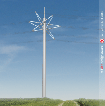 Le Star Pylon.Pour en savoir plus: http://www.gridexpo.eu/pylon-design-wins-red-dot-award/