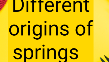 Different origins of springs