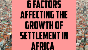 6 factors affecting the growth of settlement in Africa