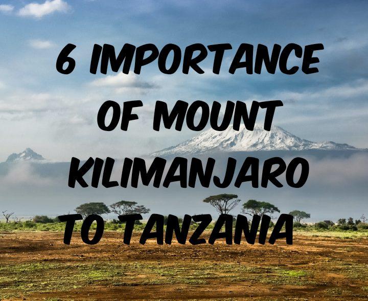 Importance of mount Kilimanjaro to Tanzania