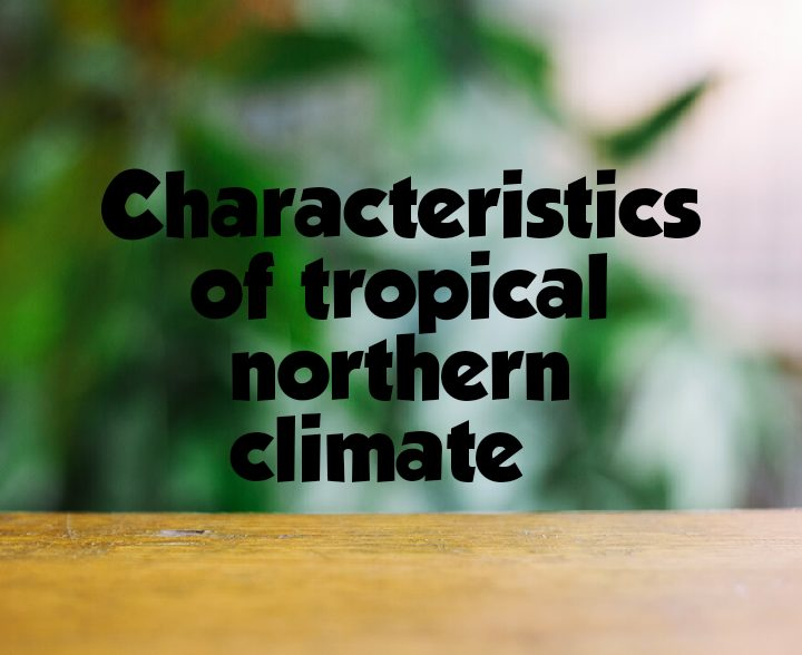 Characteristics of tropical northern climate
