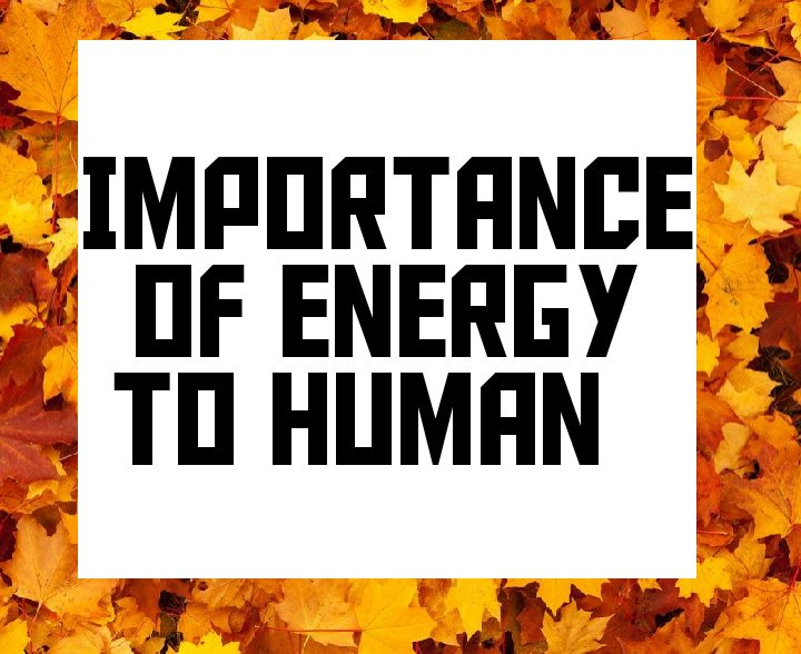 Importance of energy to human