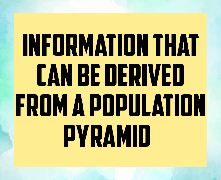 Information that can be derived from population pyramid