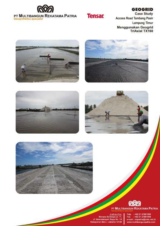 jual geogrid triaxial untuk stabilisasi jalan tambang di atas tanah dasar lunak