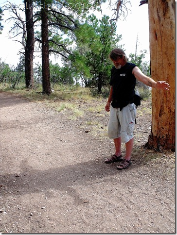 02a Mike making shadows along Transept trail NR GRCA NP AZ (768x1024)