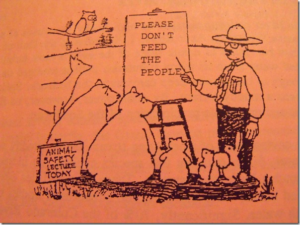126 Cartoon Ranger telling animals not to feed the people (1024x768)