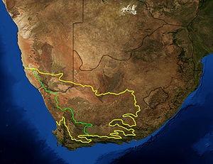 satellite image Karoo South Africa