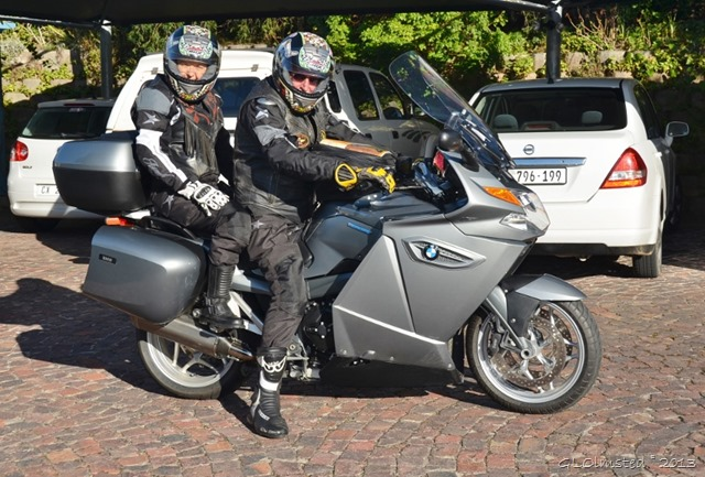 Jo & Grant on the BMW at Guinea Fowl Lodge Knysna SA