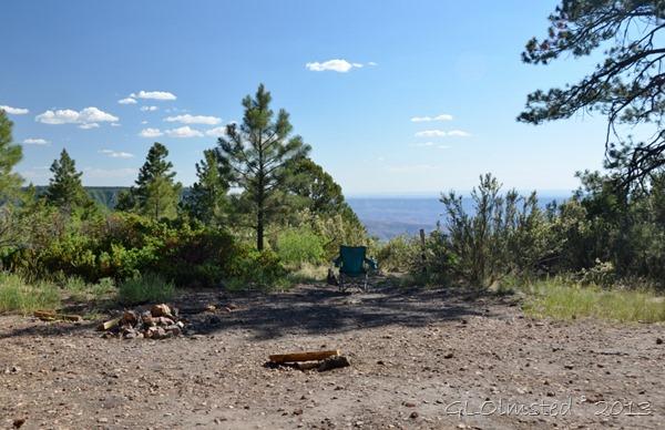 Campsite Timp Point Kaibab National Forest Arizona