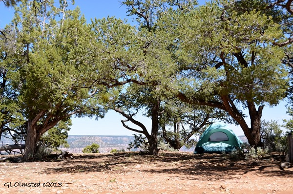 Campsite at Point Sublime North Rim Grand Canyon National Park Arizona
