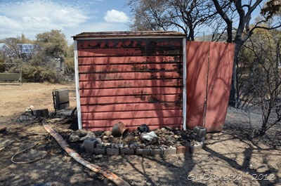 Burnt shed Yarnell Arizona