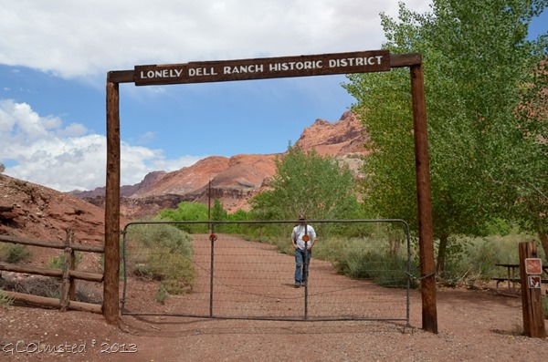 Lonely Dell Ranch Historic District entrance Lees Ferry Arizona