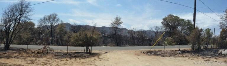 Weaver Mts from driveway Yarnell Arizona