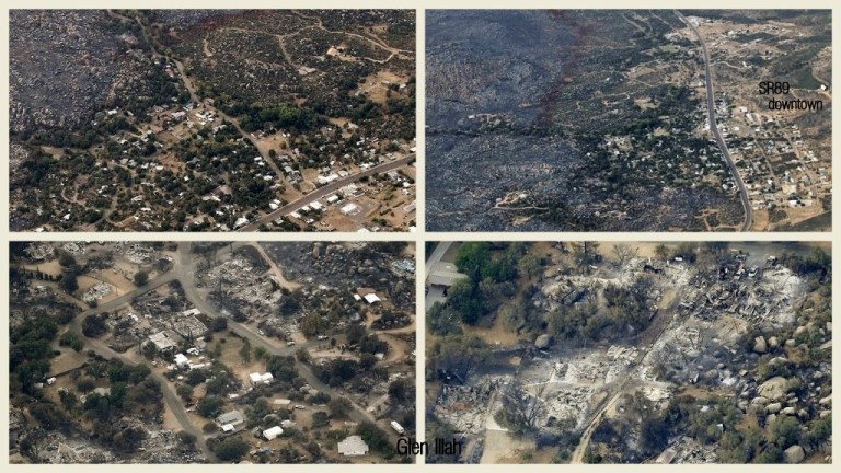 Aerial views of Yarnell from media sources