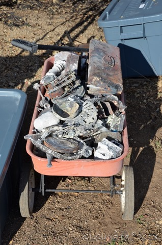Wagon full of melted stuff Yarnell Arizona