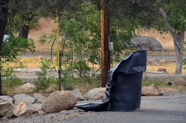 Melted trash can Yarnell Arizona