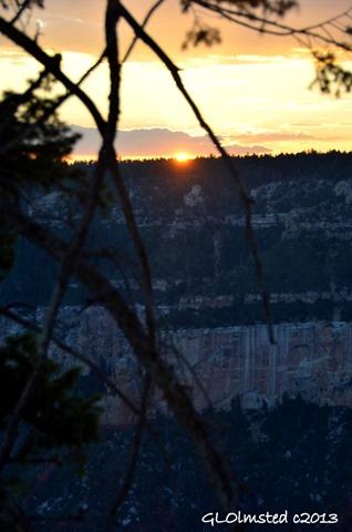 Sunset over Transept Canyon North Rim Grand Canyon National Park Arizona