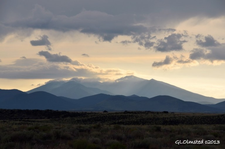 Last light on San Francisco Peaks Arizona