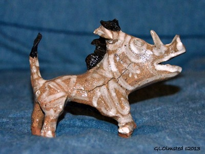 Ceramic warthog from Hogsback South Africa