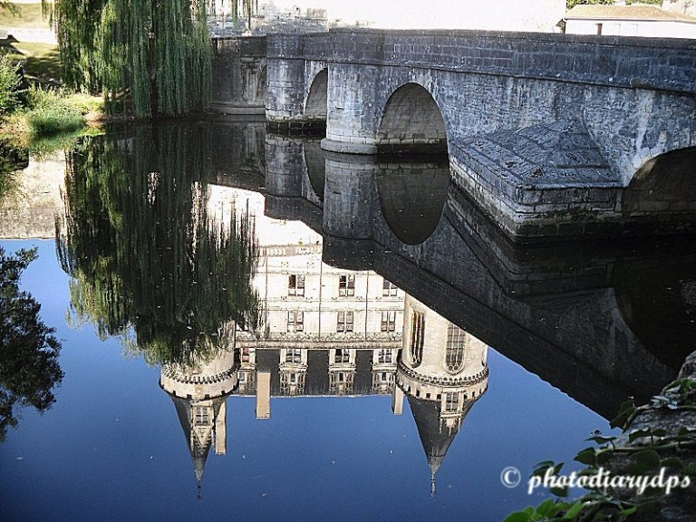 La Rochefoucauld Chateau Reflection