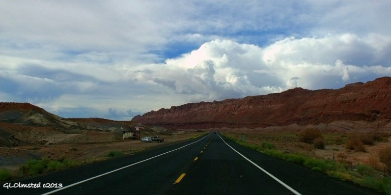 Storm clouds over Echo Cliffs SR89 Arizona