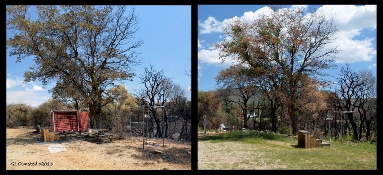 Burnt yard comparison Yarnell Arizona
