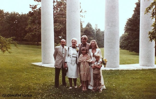 Ray & June, Ron & Gaelyn Rachel & Zowie Morton Arboredum Lisle Illinois