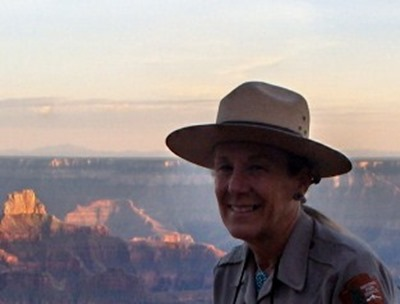 Ranger Gaelyn Sunset North Rim Grand Canyon National Park Arizona