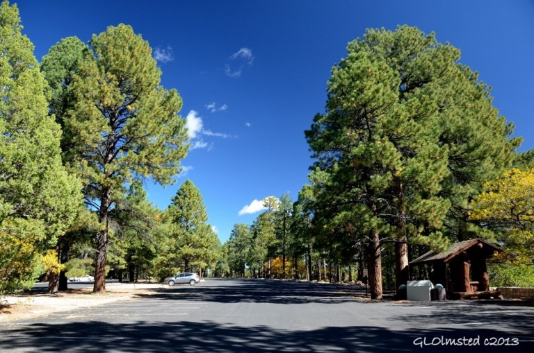 Almost empty parking lot North Rim Grand Canyon National Park Arizona