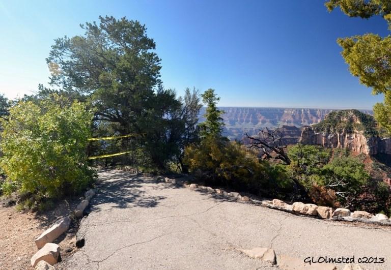 Bright Angel Point trail closed at North Rim Grand Canyon National Park Arizona