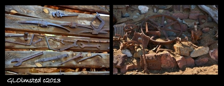 Rusty stuff at Gold King Mine Ghost Town Jerome Arizona