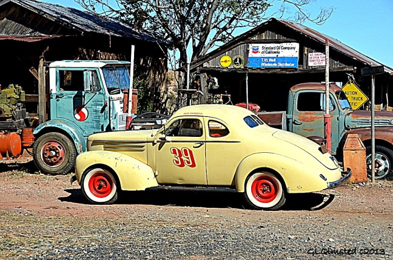 Old race car Gold King Mine Ghost Town Jerome Arizona