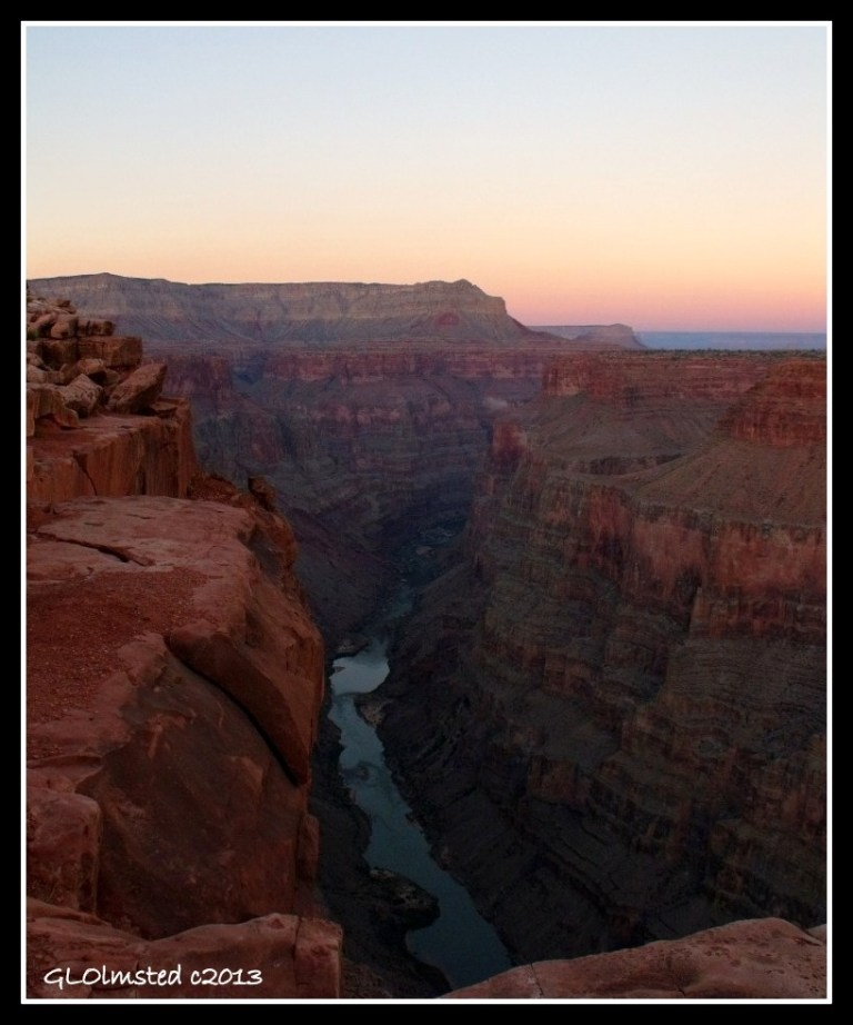 Sunset upriver Tuweep Grand Canyon National Park Arizona